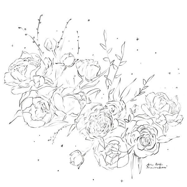 Flowers Always Coloring Book Alex Perlin